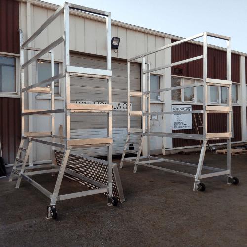 Alumiiniset tyoskentelytasot konepajateollisuuteen
